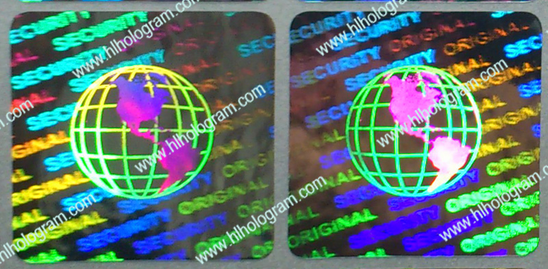 hologram sticker photo