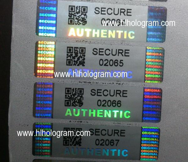 Barcode hologram label, 2-dimensional barcode, QR code